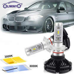 Для автомобилей Новая автоматическая интеграция Светодиодная фара Водонепроницаемая 4600LM 30W H4 SUV JEEP ATV универсальная светодиодная фара 6000K Автомобильная подсветка