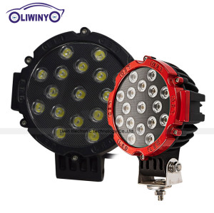 chinese manufacturers trains light for cars parts 51w spot/flood led working light Popular led truck work lights