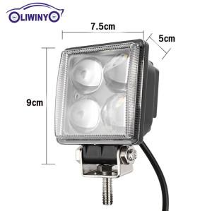 lw hottest cnc led machine work light 10-30v 3.1inch 12W auto led work lights for trucks