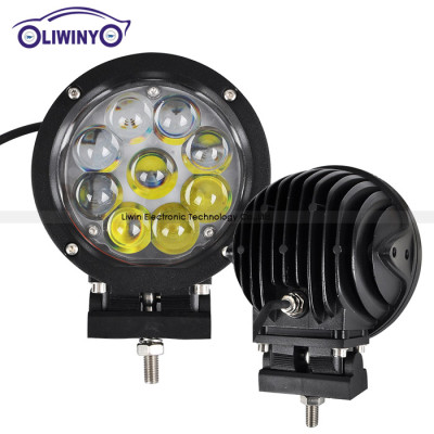 liwiny 45w car off road light bar 10-30v 5.5 inch 4x4 led work light