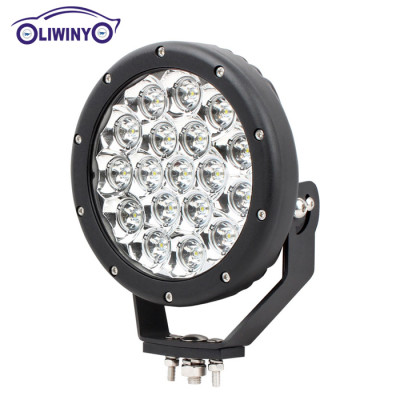 liwiny hottest marine work light 7 inch 90w led car work light