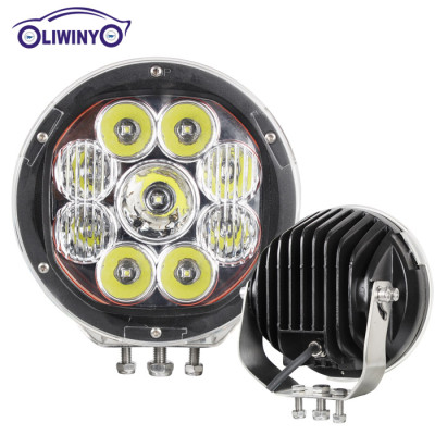 liwiny factory price led light bars for trucks 10-30v 7 inch 135w off road light led work light