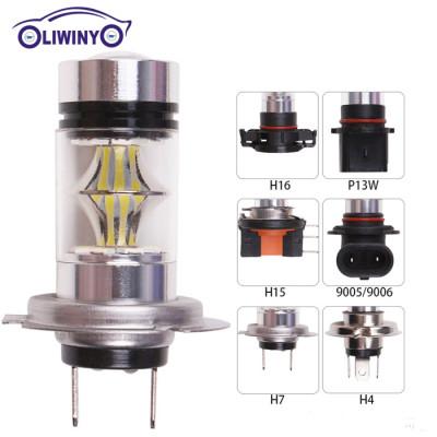 Automotive LED High Power Fog Light H7 100W 20LED 2835 LED Fog Light Bulb