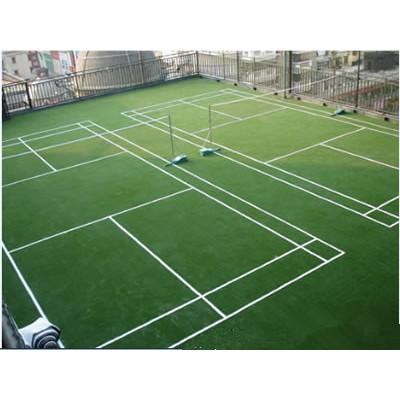 Rubber tennis court
