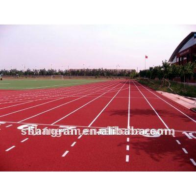 plastic athletic track material