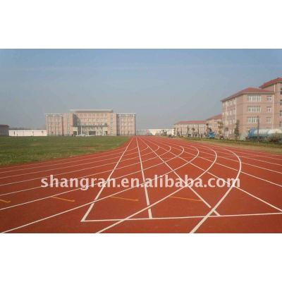 PU racetrack running track material