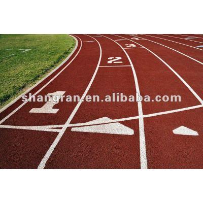 running track material constrantion in sport field