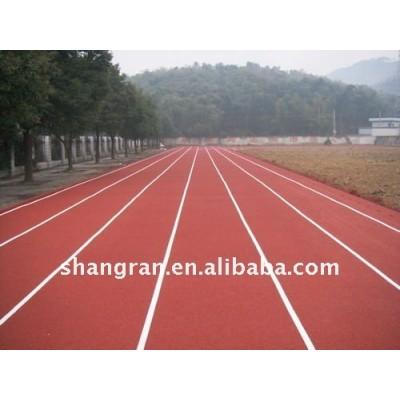 plastic running track material