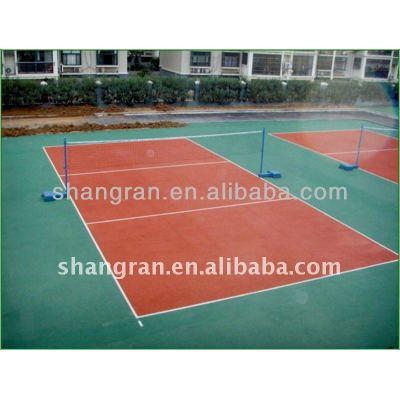 Hot sale!!! Anti-slip pu outdoor volleyball court