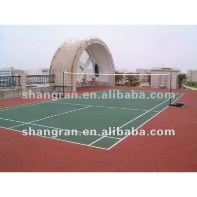 outdoor badminton courts PU