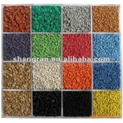 SBR rubber granules and EPDM rubber granules