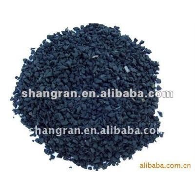 Black rubber granules