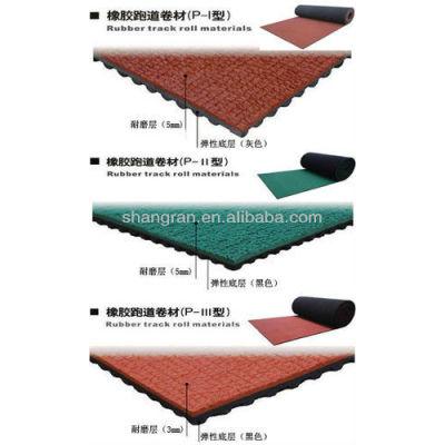 Prefabricated running track surface