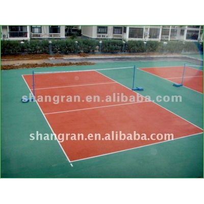 Compount type court flooring