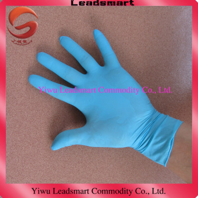 powder free industrial gloves nitrile Blue in bulk