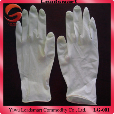 100% natural disposable latex glove