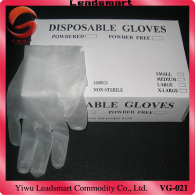 Exporting disposable vinyl PVC gloves medical grade