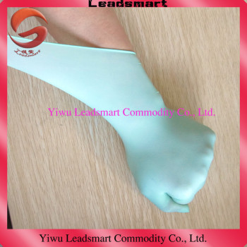 strecth green disposable gloves surgical manufacture