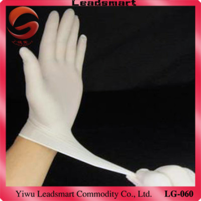 Disposable non sterile latex examination gloves for food grade