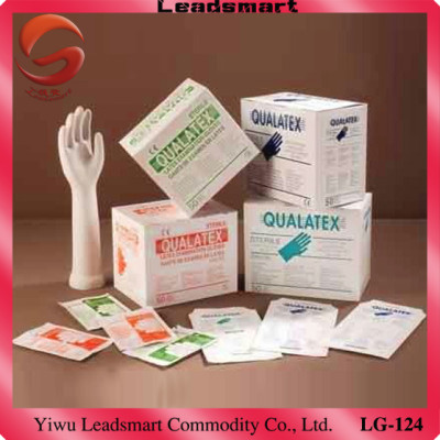 Examination disposable latex working glove in favourable price