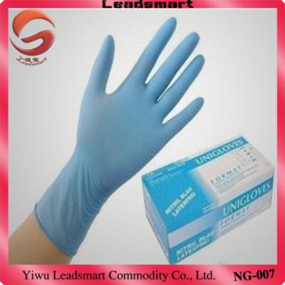 acid-resistant safety nitrile glove with CE and ISO