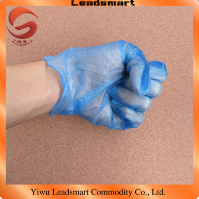 100pcs/box disposable clear vinyl gloves with powdered