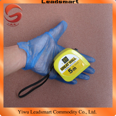 powder free blue disposable pvc vinyl gloves with AQL1.5