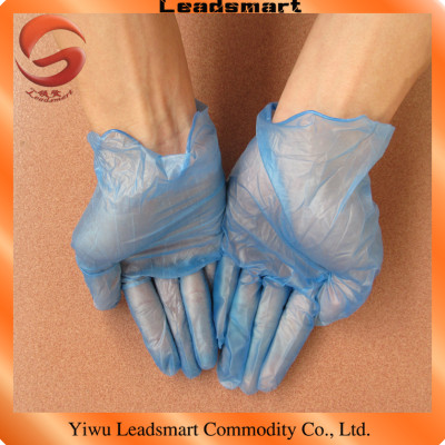 blue vinyl gloves latex powder free gloves with AQL1.5
