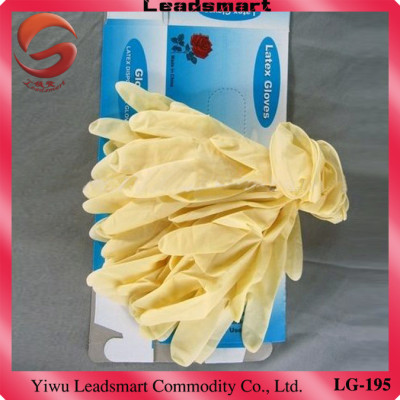 AQL1.5 latex gloves examination manufacturer for medical