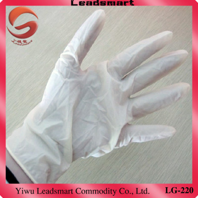 Textured Powdered medical disposable latex examination gloves supplier