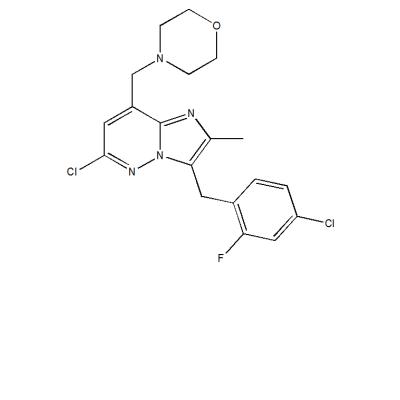 6-chloro-3-(4-chloro-2-fluorobenzyl)-2-methyl-8-(morpholin-4-ylmethyl)imidazo[1,2-b]pyridazine