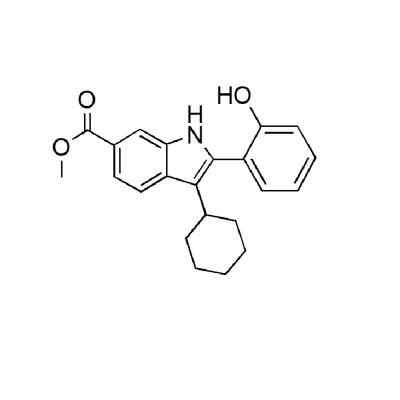 Methyl 3- cyclohexyl -2-(2-hydroxyphenyl)- 1H-indole-6-carboxylate