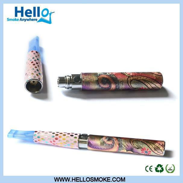nuevos y de moda cigarrillo electrónico ego colorido patrón de batería en 2013