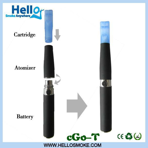 cigarrillo electrónico ego tanque de t con cartucho de alta calidad