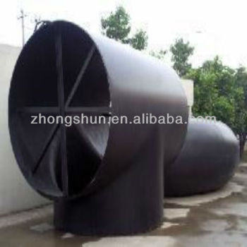 large size carbon steel pipe tee