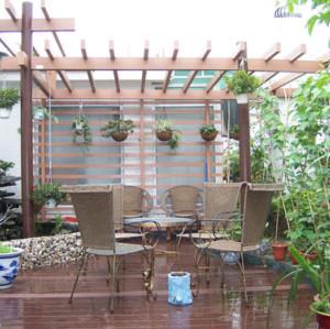 Elegant garden pavilion wpc material