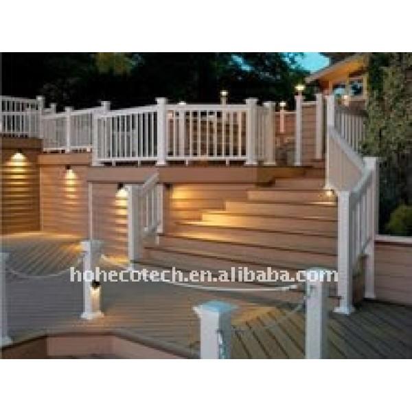 ( ce, rohs, astm, iso9001, iso14001, intertek ) jardín wpc barandilla de la cubierta/pasamanos de la escalera