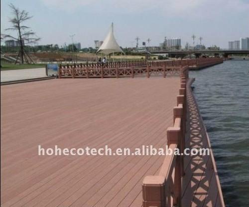 Longue vie pour employer le bois composé en plastique en bois de composé de decking/plancher