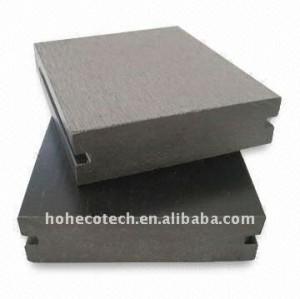plancher composé en plastique en bois de decking de 90*25mm WPC/de decking de wpc de panneau plancher de plancher (CE, ROHS, ASTM, ISO9001, ISO14001, Intertek)