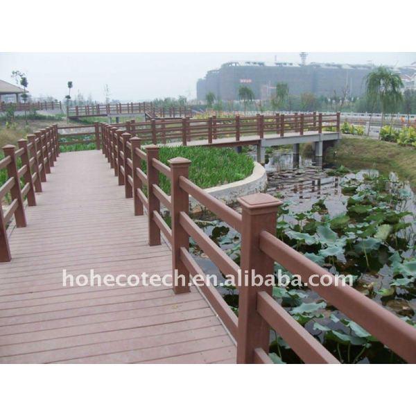Madera de alta calidad/bambú esgrima wpc esgrima compuesto