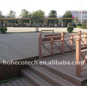 Decking du matériau de construction de compagnie WPC/composé composés en plastique en bois au sol decking de plancher