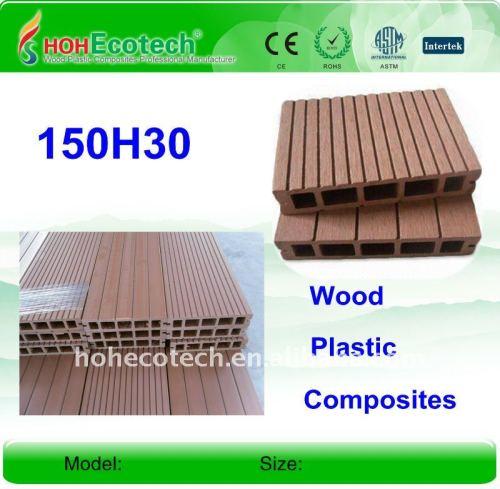 Plancher composé en plastique en bois de decking de WPC/de decking de wpc de panneau de plancher wpc du plancher 150*30mm