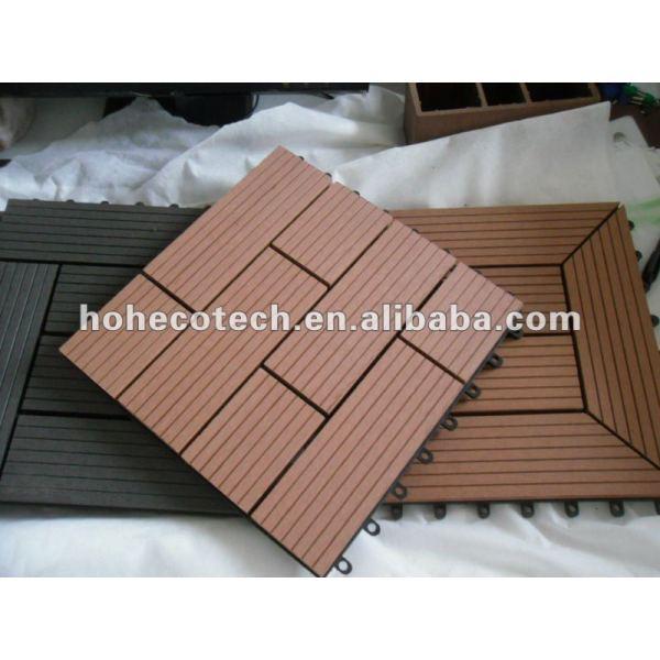 compuesto plástico de madera decking del wpc decking de enclavamiento azulejos