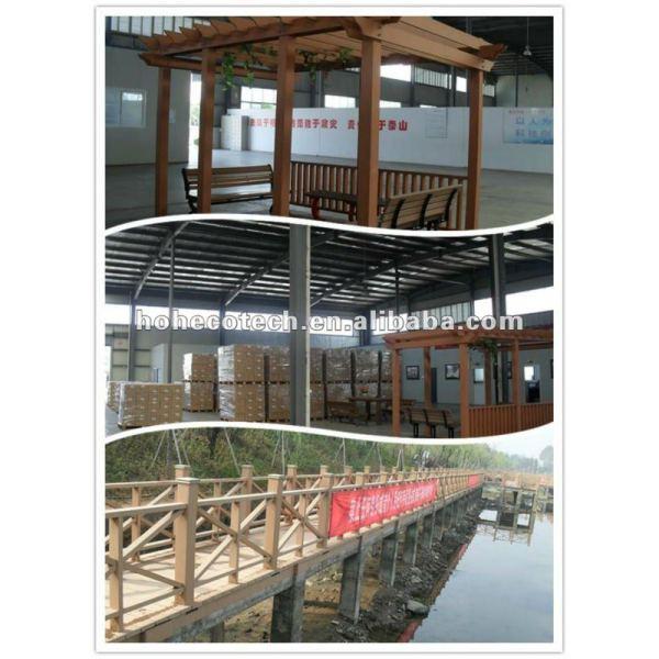 Huasu al aire libre del piso del wpc proyecto, productos de la huerta