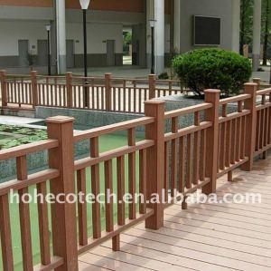 Facilement decking composé en plastique en bois de plate-forme de bois de construction de wpc d'installation/decking de plancher