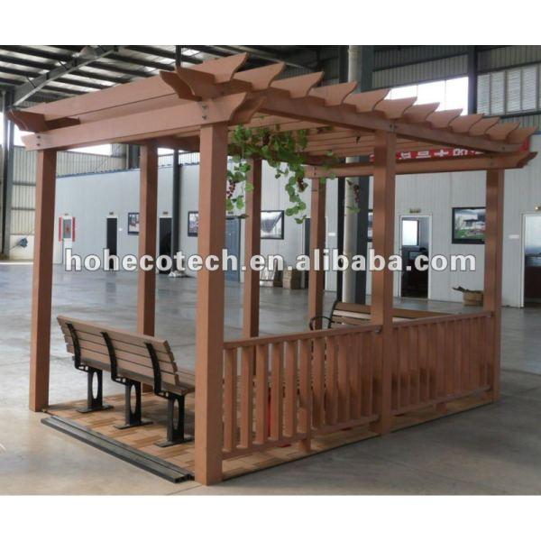 Hermosa, wpc duradero productos de ocio, casa de madera