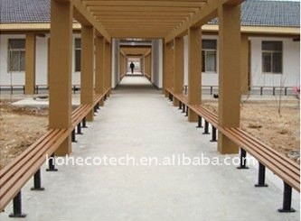 wood plastic composite bench/chairs public rest chairs leisure chairs/bench wood bench