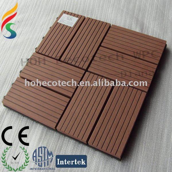 unprecedent compuesto plástico de madera decking azulejos
