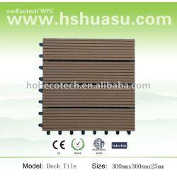 De enclavamiento azulejo decking del wpc/decking del wpc/compuesto plástico de madera