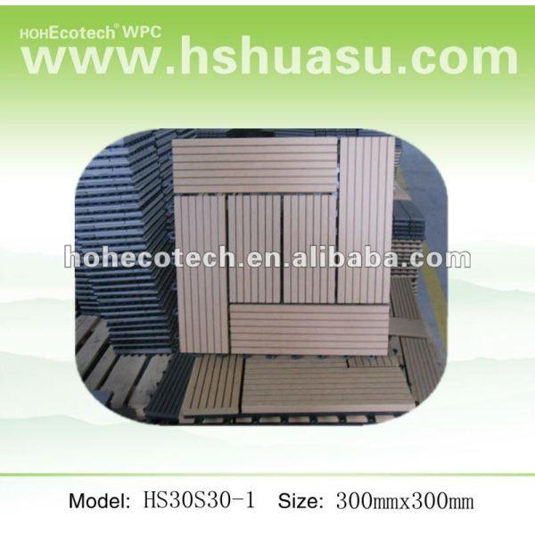 Hochfeste Fliese des WPC Badezimmer Decking tile/DIY/Fußbodenfliesen